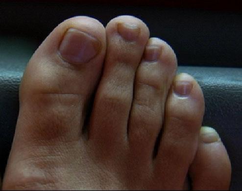 Un piede di Uma Thurman